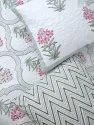 Hand Block Printed cotton Quilted Bedcover.