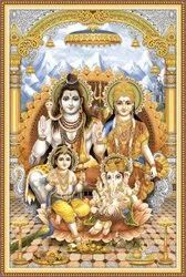 Ceramic Mosaic Gloss 4 x 8 Inch Printed Religious Wall Tiles, For Wall,Temple