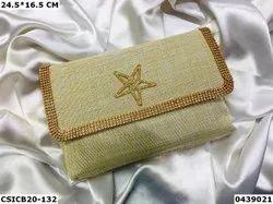 Ethnic Jute Clutch Bag