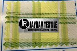 Green checks Assam Uniform Fabric
