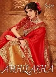 Saroj Abhilasha Festive Wear Silk Sarees Catalog Collection