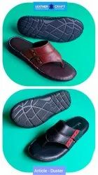 Men Casual Wear Leather Slippers, Size: 6 To 10
