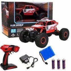 Abs Plastic Multicolor Rock Crawler Remote Toy Car