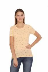 Harbornbay Women  Printed Round Neck T-shirt.