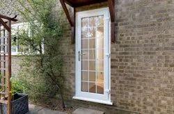 Toughened Glass Lever Handle Residential UPVC Door, Door Open Style: Hinged, Glass Thickness: 4 Mm