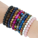 Natural Healing Crystal Gemstone Beads Bracelet