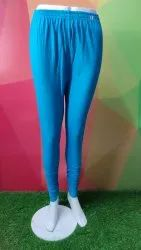 Casual Straight Fit Leggings Plain Two Way Lycra, Size: Free Size