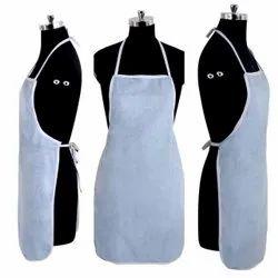 White Plain Cotton Cooking Apron, For Kitchen, Size: Medium