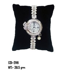 Women Round Sterling Silver Watches, For Formal, Model Name/Number: SB398