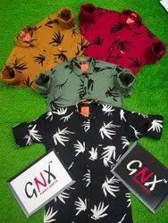 GNX Collar Neck Men Stylish Printed Cotton Shirt