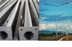 Steel Single-Arm GI Pole