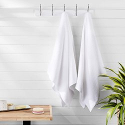 White Cotton Hotel Bath Towel, Size: 30x60