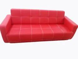 Advance Furniture Red 3 Seater Modern Sofa, Living Room, 5 Inch