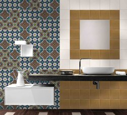 Siddhi Ceramic F-07 Victorian Wall Tile, Size: 20x20cm