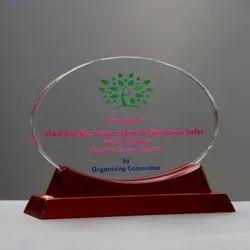 Crystal And Wooden Award