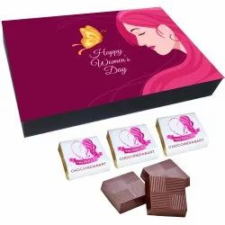 Brown Square Happy Women'S Day Chocolate Gift