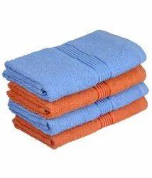 Plain Multicolor Cotton Bath Towel, Size: 24x48