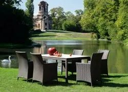 Synthetic Cane,Aluminium Outdoor Chair And Table