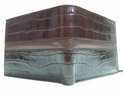 Brown Bi Fold Men Genuine Leather Wallet, Card Slots: 4