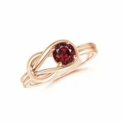 925 Sterling Silver Beautiful Red Garnet Promise Rings