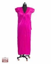 Full Length Satin Ladies Night Dress, Adult