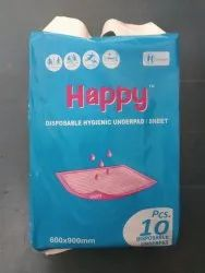 Rectangle Blue Happy Medical Underpad