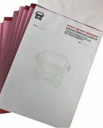 White Rectangle Custom Printed Letter Head, For Office