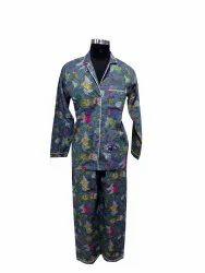 Cotton Printed cotton Women Night Suit