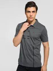Polo Neck Half Sleeve Mens Branded Collar Tshirts