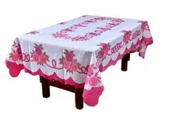 Knitted Polyester Rectangular Daisy Printed Table Cover, Size: 40x60 Inches
