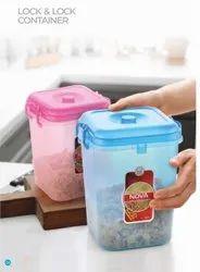 Plastic food storage lock n lock container
