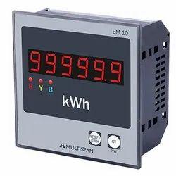 Multispan Three 3 Phase Energy Meter, Model Name/Number: EM-10, 230 V Ac