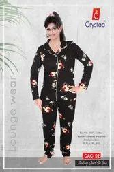 Hosiery Female Womens Night Suit