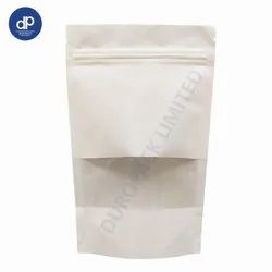 White Kraft Paper Pouch with Window