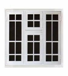 Modern White I Leaf Steel Windows, For Residential, Size/Dimension: 150x132