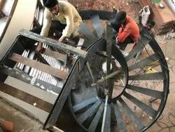 Mild Steel Metal Spiral Stair, For Home