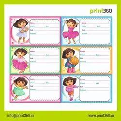 Name Sticker Offset Printing Service
