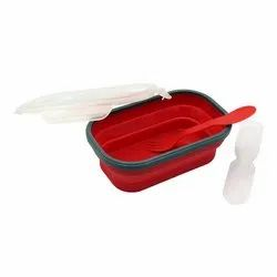 Silicone iLife 1 Compartment Expandable And Collapsible Lunch Box, For School, Capacity: 0.45 Liters