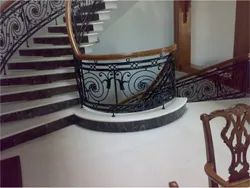 Black Bar Residential Staircase Railing, For Home, Mounting Type: Floor