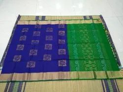 Casual Wear Multicolor Ladies Classic Silk Cotton Saree, 6.2 Meter(with blouse piece)