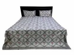 Hand Block print Bed Sheet With Two Pillow