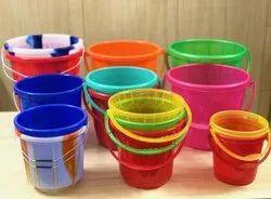 Colored Plastic Bucket