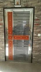 Modern Stainless Steel Door, Size: 7x3.3 Ft