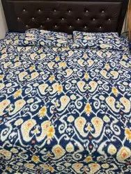 Ikat Paisley Cotton Quilted Bed Cover