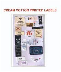 Cream Cotton Printed Label