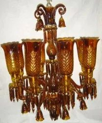 Candle-Style Fluorescent Bulb Decorative Crystal Chandelier