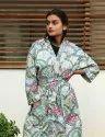 Block Print cotton Short Kimono Robe