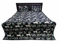 Animal Print Quilted Bed Comferter with Two Pillow