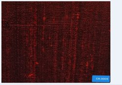Carmine Poly Silk Shirting Fabric, Plain / Solids