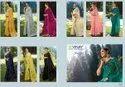 Chiffon Diamond Work Saree Catalog-9 Pcs Set